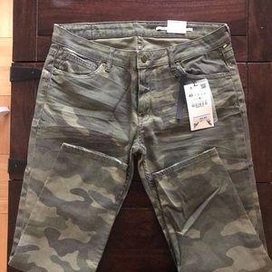 Zara NWT military jeans size 8